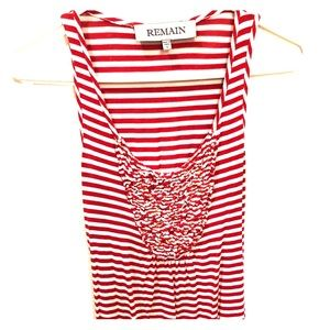 Anthropologie Red And White Stripped Tank Top